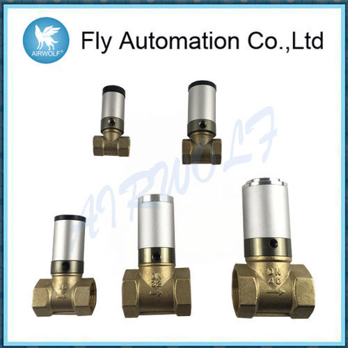 "Q22HD-15 Automotive Auto Parts 1/2"" 2/2 Ways Pneumatic Tube Valve Air Control Actuator Water Brass Valve"