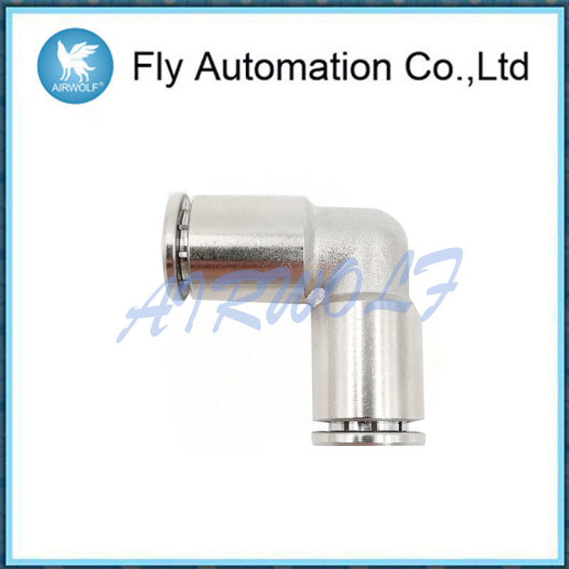 Samakonasana Pneumatic Connectors Fittings , Silvery White Air Tube Fittings