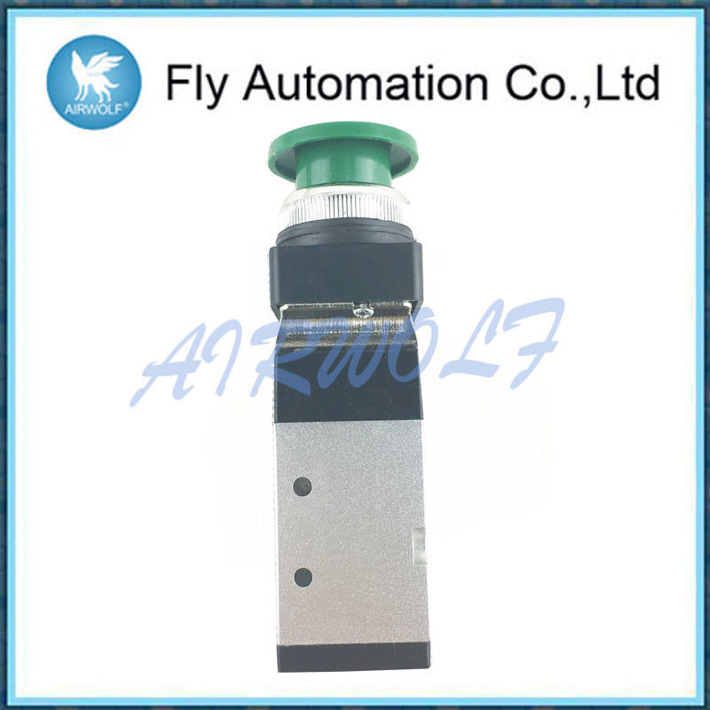 Aluminium Alloy 5/2 Way Pneumatic Manual Valve Compressed Air Fluid