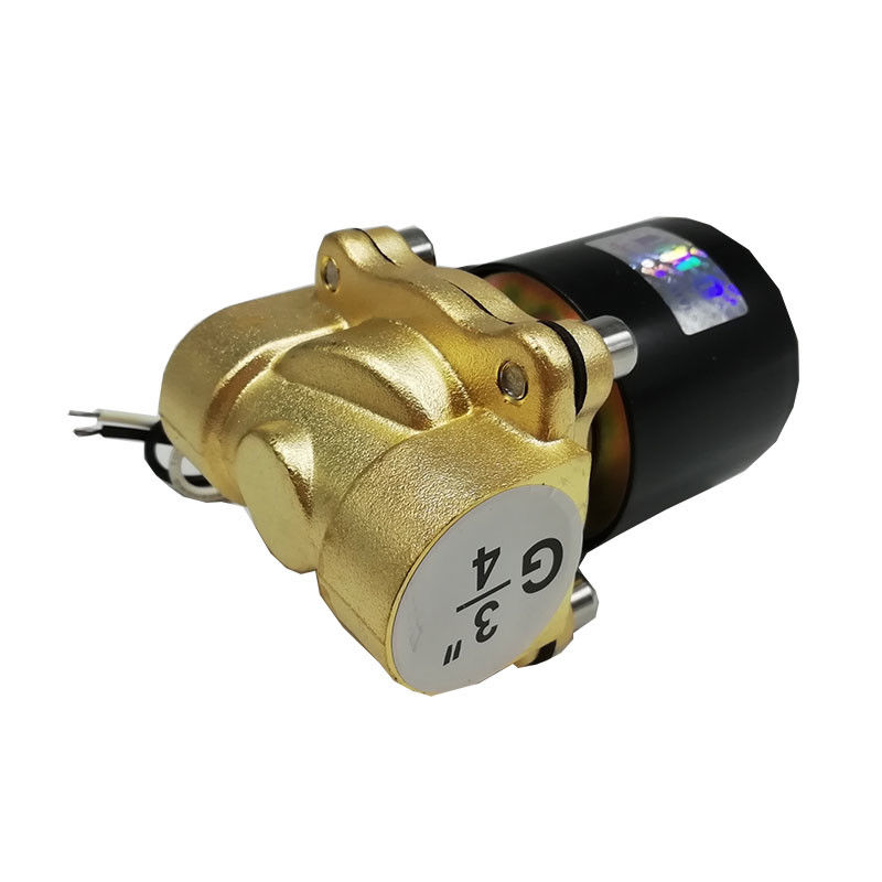 "2 Way Water Solenoid Valves Normally Closed Solenoid Valve 3/4"" Port Size"